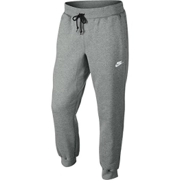 Nike Herren Hose AW77 Cuffed Fleece Pants, Dark Grey Heather/White, L, 598871-063-L - 1