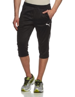 PUMA Herren Hose 3/4 Training Pants, Black/White, XL, 653825 03 - 1