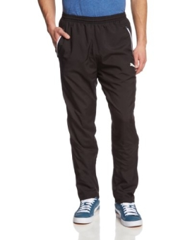 PUMA Herren Hose Leisure Pants, Black/White, M, 653829 03 - 1