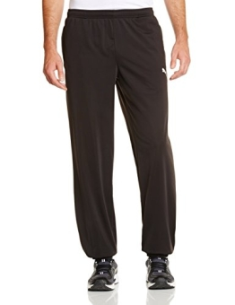 PUMA Herren Hose Spirit Pants, Black-White, M, 653636 03 - 1