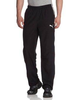 PUMA Herren Hose Spirit Woven Pants, Black/White, L, 653637 03 - 1