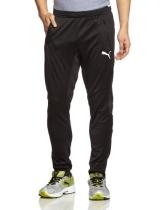 PUMA Herren Hose Training Pants, Black/White, M, 653824 03 - 1