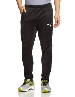 PUMA Herren Hose Training Pants, Black/White, M, 653824 03 - 1
