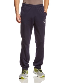 PUMA Herren Hose Tricot Pants, New Navy/White, L, 653974 06 - 1